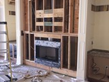 Framming Fireplace Wall