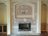 Sheetrocked Fireplace & Flat Screen TV Niche