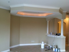 Lighted Crown Moulding & Columns