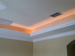 Lighted Crown Moulding Master Bedroom