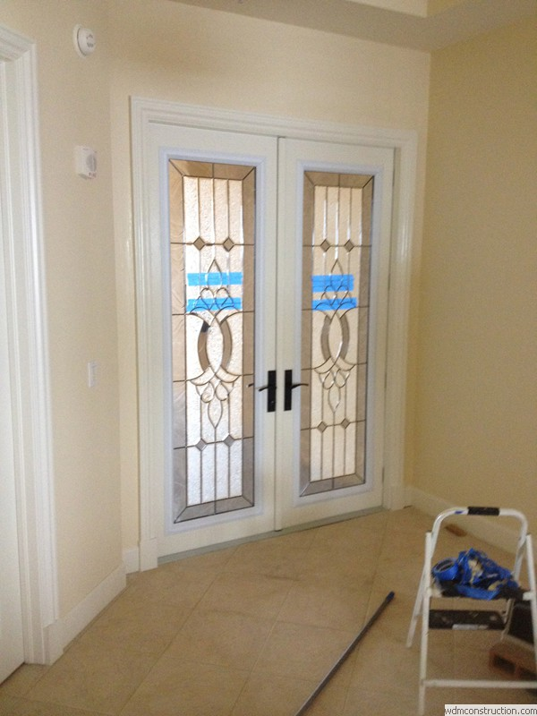 ... Custom Height Double Outswing Textured Plastpro Fiberglass Door & Featured Remodel Project - Gulf Harbor Condo Entry door Replacement